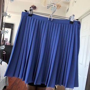 American Apparel Blue Pleated Aline Skirt